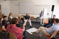 """Angeregte Diskussionen in der Session zu """"Flexibilisierung von Arbeitszeit und -ort"""""""